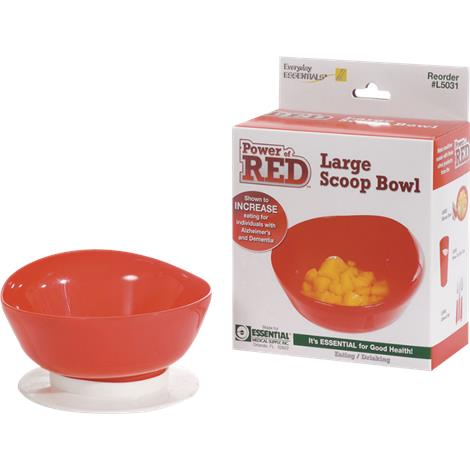 Essential Medical Power of Red Large Scoop Bowl