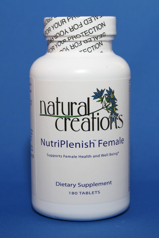 NutriPlenish Female 180 Tablets - Natural Creations